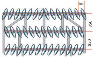 Трехрядные рядные дисковые бороны